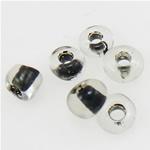 Ngjyra rreshtuar Farë Glass Beads, Seed Glass Beads, Rondelle, ngjyra-rreshtuan, 2x1.90mm, : 1mm,  Qese