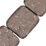 Beads bizhuteri gur i çmuar, Stone Kafe, Drejtkëndësh, natyror, 14x6mm, : 1.5mm, : 15.5Inç, 10Fillesat/Shumë,  Shumë
