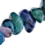 Beads bizhuteri gur i çmuar, Rainbow Veines Stone, Nuggets, natyror, 6-14mm, : 1-1.5mm, : 15.5Inç, 10Fillesat/Shumë,  Shumë