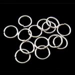 Iron Mbyllur Ring Jump, Hekur, Petull e ëmbël në formë gjevreku, Ngjyra argjend praruar, asnjë, , nikel çojë \x26amp; kadmium falas, 0.90x8mm, : 6mm, 8850PC/Qese,  Qese