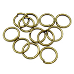 Iron Mbyllur Ring Jump, Hekur, Petull e ëmbël në formë gjevreku, Ngjyra antike bronz i praruar, asnjë, , nikel çojë \x26amp; kadmium falas, 1x8mm, : 6mm, 8850PC/Qese,  Qese