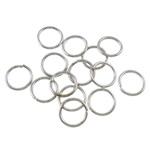 Iron Mbyllur Ring Jump, Hekur, Petull e ëmbël në formë gjevreku, ngjyrë platin praruar, asnjë, , nikel çojë \x26amp; kadmium falas, 0.70x6mm, : 4.5mm, 16666PC/Qese,  Qese