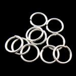 Iron Mbyllur Ring Jump, Hekur, Petull e ëmbël në formë gjevreku, Ngjyra argjend praruar, asnjë, , nikel çojë \x26amp; kadmium falas, 0.70x6mm, : 4.5mm, 16666PC/Qese,  Qese