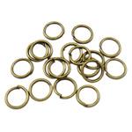 Iron Mbyllur Ring Jump, Hekur, Petull e ëmbël në formë gjevreku, Ngjyra antike bronz i praruar, asnjë, , nikel çojë \x26amp; kadmium falas, 0.70x5mm, : 3.5mm, 12000PC/Qese,  Qese