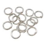Iron Mbyllur Ring Jump, Hekur, Petull e ëmbël në formë gjevreku, ngjyrë platin praruar, asnjë, , nikel çojë \x26amp; kadmium falas, 0.80x5mm, : 3mm, 14200PC/Qese,  Qese