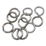 Iron Mbyllur Ring Jump, Hekur, Petull e ëmbël në formë gjevreku, plumbit ngjyrë të zezë praruar, asnjë, , nikel çojë \x26amp; kadmium falas, 0.80x5mm, : 3mm, 14200PC/Qese,  Qese