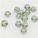 Silbereinzug Glas Rocailles, Glas-Rocailles, rund, 2x3mm, Bohrung:ca. 1mm, verkauft von Tasche