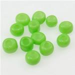 Opake Glas Rocailles, Glas-Rocailles, grün, 2x3mm, Bohrung:ca. 1mm, verkauft von Tasche