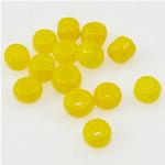Glänzende Glas-Rocailles, gelb, 2x3mm, Bohrung:ca. 1mm, verkauft von Tasche