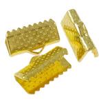 Iron Ribbon rekrutues, Hekur, Drejtkëndësh, ngjyrë ari praruar, asnjë, , nikel çojë \x26amp; kadmium falas, 13x8x5.50mm, : 3x1.5mm, 2500PC/Qese,  Qese