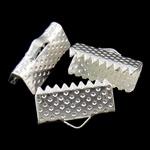 Iron Ribbon rekrutues, Hekur, Drejtkëndësh, Ngjyra argjend praruar, asnjë, , nikel çojë \x26amp; kadmium falas, 13x8x5.50mm, : 3x1.5mm, 2000PC/Qese,  Qese
