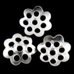 Iron Bead Caps, Hekur, Lule, Ngjyra argjend praruar, asnjë, asnjë, , nikel çojë \x26amp; kadmium falas, 6x1mm, : 1mm, 10000PC/Qese,  Qese