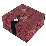 Saten byzylyk Box, with Velveteen, Katror, i kuq, 90x90x51mm, 10PC/Shumë,  Shumë