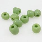 Opake Glas Rocailles, Glas-Rocailles, grün, 3x3.60mm, Bohrung:ca. 1mm, verkauft von Tasche