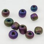 Satinierte Glas Rocailles, Glas-Rocailles, Rondell, 3x3.60mm, Bohrung:ca. 1mm, verkauft von Tasche