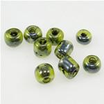Ngjyra rreshtuar Farë Glass Beads, Seed Glass Beads, 3x3.60mm, : 1mm,  Qese