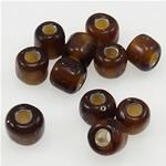 Silbereinzug Glas Rocailles, Glas-Rocailles, 3x3.60mm, Bohrung:ca. 1mm, verkauft von Tasche