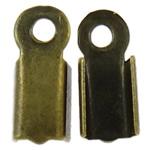 Këshilla Cord Hekuri, Ngjyra antike bronz i praruar, asnjë, , nikel çojë \x26amp; kadmium falas, 10x4x3.50mm, : 1.5mm, 10000PC/Qese,  Qese