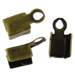 Këshilla Cord Hekuri, Ngjyra antike bronz i praruar, asnjë, , nikel çojë \x26amp; kadmium falas, 7x4x2.50mm, : 1.3mm, 10000PC/Qese,  Qese