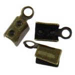 Këshilla Cord Hekuri, Ngjyra antike bronz i praruar, asnjë, , nikel çojë \x26amp; kadmium falas, 7x3.50x3mm, : 1.3mm, 10000PC/Qese,  Qese