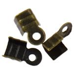 Këshilla Cord Hekuri, Ngjyra antike bronz i praruar, asnjë, , nikel çojë \x26amp; kadmium falas, 6x3.50x2.30mm, : 1.5mm, 10000PC/Qese,  Qese