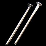Iron Headpin, Hekur, Ngjyra argjend praruar, asnjë, , nikel çojë \x26amp; kadmium falas, 0.80x16mm, 16666PC/Qese,  Qese