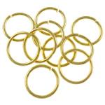 Iron Mbyllur Ring Jump, Hekur, Petull e ëmbël në formë gjevreku, ngjyrë ari praruar, asnjë, , nikel çojë \x26amp; kadmium falas, 1x10mm, : 8mm, 6060PC/Qese,  Qese