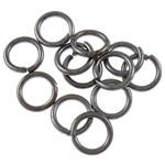 Iron Mbyllur Ring Jump, Hekur, Petull e ëmbël në formë gjevreku, plumbit ngjyrë të zezë praruar, asnjë, , nikel çojë \x26amp; kadmium falas, 1.20x8mm, : 5.5mm, 8850PC/Qese,  Qese