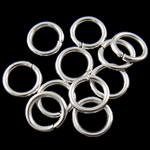 Iron Mbyllur Ring Jump, Hekur, Petull e ëmbël në formë gjevreku, Ngjyra argjend praruar, asnjë, , nikel çojë \x26amp; kadmium falas, 1.20x8mm, : 5.5mm, 8850PC/Qese,  Qese