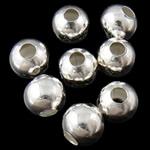 Beads bizhuteri Hekuri, Round, Ngjyra argjend praruar, asnjë, , nikel çojë \x26amp; kadmium falas, 5mm, : 2mm, 10000PC/Qese,  Qese