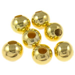 Beads bizhuteri Hekuri, Round, ngjyrë ari praruar, asnjë, , nikel çojë \x26amp; kadmium falas, 7mm, : 2.8mm, 5000PC/Qese,  Qese