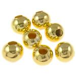 Beads bizhuteri Hekuri, Round, ngjyrë ari praruar, asnjë, , nikel çojë \x26amp; kadmium falas, 4mm, : 1.5mm, 10000PC/Qese,  Qese