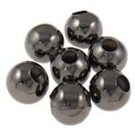 Beads bizhuteri Hekuri, Round, plumbit ngjyrë të zezë praruar, asnjë, , nikel çojë \x26amp; kadmium falas, 8mm, : 3mm, 5000PC/Qese,  Qese