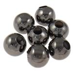 Beads bizhuteri Hekuri, Round, plumbit ngjyrë të zezë praruar, asnjë, , nikel çojë \x26amp; kadmium falas, 3.20mm, : 1.5mm, 10000PC/Qese,  Qese