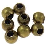 Beads bizhuteri Hekuri, Round, Ngjyra antike bronz i praruar, asnjë, , nikel çojë \x26amp; kadmium falas, 6mm, : 2.5mm, 10000PC/Qese,  Qese