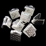 Iron Ribbon rekrutues, Hekur, Drejtkëndësh, Ngjyra argjend praruar, asnjë, , nikel çojë \x26amp; kadmium falas, 7.50x6x5.50mm, : 2x1mm, 5000PC/Qese,  Qese