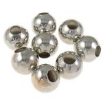 Beads bizhuteri Hekuri, Round, ngjyrë platin praruar, asnjë, , nikel çojë \x26amp; kadmium falas, 5mm, : 2mm, 10000PC/Qese,  Qese
