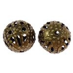 Beads bizhuteri Hekuri, Round, Ngjyra antike bronz i praruar, asnjë, , nikel çojë \x26amp; kadmium falas, 6mm, : 0.7mm, 10000PC/Qese,  Qese