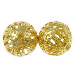 Beads bizhuteri Hekuri, Round, ngjyrë ari praruar, asnjë, , nikel çojë \x26amp; kadmium falas, 10mm, : 1mm, 5000PC/Qese,  Qese