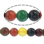 Natürliche Regenbogen Achat Perlen, rund, 8mm, Bohrung:ca. 1mm, Länge:ca. 14.5 ZollInch, 10SträngeStrang/Menge, ca. 45PCs/Strang, verkauft von Menge