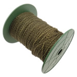 Zinxhiri Iron Oval, Hekur, Ngjyra antike bronz i praruar, asnjë, , nikel çojë \x26amp; kadmium falas, 2x3.20x0.60mm, :100m,  PC