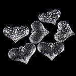Pendants akrilik, Zemër, i tejdukshëm, 28x37.50x11mm, : 3mm, 85PC/Qese,  Qese