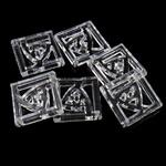 Mbulim Gjuhësh akrilik, Katror, i tejdukshëm, 35x5mm, : 2mm, 185PC/Qese,  Qese