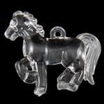 Pendants akrilik, Kafshë, i tejdukshëm, 42.50x38x10.80mm, : 3mm, 80PC/Qese,  Qese