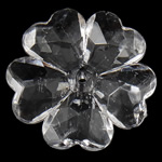 Beads transparente akrilik, Lule, i tejdukshëm, 28x6.50mm, : 2mm, 215PC/Qese,  Qese