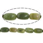 Jade Perlen, australischer Chrysopras, Rechteck, natürlich, 8.5-11x16-18mm, Bohrung:ca. 0.8-1.5mm, ca. 23PCs/Strang, verkauft per ca. 16 ZollInch Strang