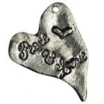 Pendants Heart Zink Alloy, Alloy zink, Zemër, Ngjyra antike argjendi praruar, asnjë, , nikel çojë \x26amp; kadmium falas, 28x37x2mm, : 2mm, 180PC/KG,  KG