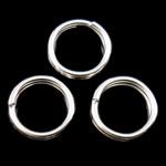 Unaza Hekuri Split, Petull e ëmbël në formë gjevreku, Ngjyra argjend praruar, asnjë, , nikel çojë \x26amp; kadmium falas, 6x1mm, : 4.7mm, 13330PC/Qese,  Qese