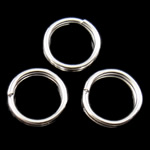 Unaza Hekuri Split, Petull e ëmbël në formë gjevreku, Ngjyra argjend praruar, asnjë, , nikel çojë \x26amp; kadmium falas, 5x1mm, : 4mm, 18865PC/Qese,  Qese