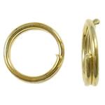 Unaza Hekuri Split, Petull e ëmbël në formë gjevreku, ngjyrë ari praruar, asnjë, , nikel çojë \x26amp; kadmium falas, 5x1mm, : 4mm, 18865PC/Qese,  Qese
